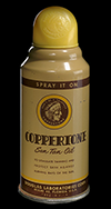 Coppertone Sun Tan Oil spray can, ca. 1953