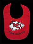 Kansas City Chiefs baby bib, 2016
