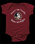 Florida State University Seminoles infant onesie, 2016