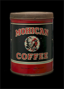 Mohican Coffee can, ca. 1920