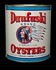 Daufuski Brand Oysters can, 1950s