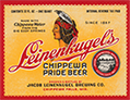 Leinenkugel's Chippewa Pride Beer label, ca. 1945