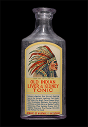 Old Indian Liver and Kidney Tonic bottle, ca. 1925
