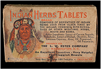 Indian Herbs Tablets box, ca. 1900