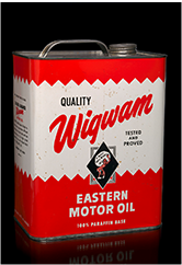 Wigwam Eastern Motor Oil can, 1950s