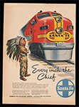 Ad for Santa Fe Chief Railroad, 1948