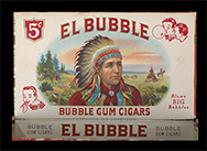 El Bubble bubble-gum cigar box, 1940s