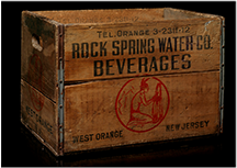 Rock Spring Water Company crate, 1940s