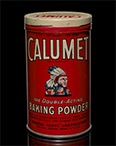 Calumet Baking Powder can, ca. 1945