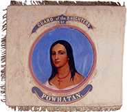 Powhatan Troop Pocahontas flag, 1860–61