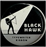 Black Hawk Typewriter Ribbon tin, ca. 1960