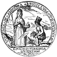 Virginia colonial seal, 1705