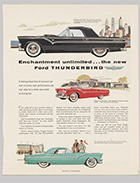 Ad for Ford Thunderbird, 1954