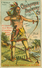 Cherokee Brewery Company advertising card, ca. 1885