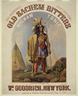 Old Sachem Bitters and Wigwam Tonic print, 1859