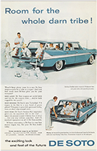 Ad for De Soto Fireflite station wagon, 1958