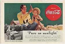 Coca-Cola advertising card, 1927