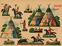 Indian Camp paper doll sheet, ca. 1920