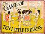 Game of Ten Little Indians box, ca. 1900
