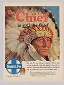 Ad for Santa Fe Chief Railroad, 1947