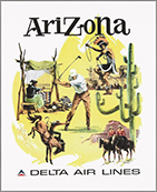 Arizona and Delta Air Lines poster, 1960
