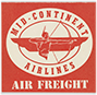 Mid-Continent Airlines Air Freight decal, 1940s