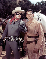 The Lone Ranger television still, 1949