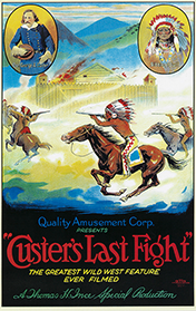 Custer's Last Fight movie poster, 1912
