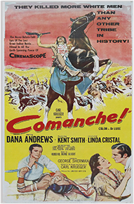 Comanche movie poster, 1956