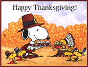 "Peanuts illustration related to ""A Charlie Brown Thanksgiving,"" n.d."