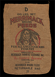 Merrimack Brand Feeds sack, ca. 1945