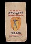 Lowe Seed Company sack, ca. 1945