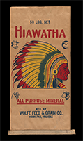 Hiawatha All Purpose Mineral sack, ca. 1950