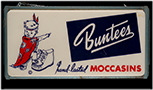 Buntees Moccasins sign, 1950s