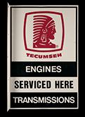 Tecumseh service sign, 1989