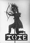 Improved Order of Red Men weathervane, ca. 1890