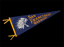 San Francisco Warriors pennant, 1960s
