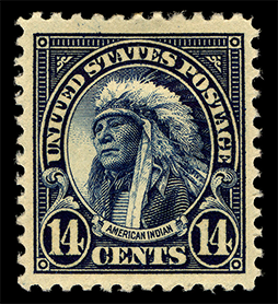Hollow Horn Bear postage stamp, 1923