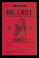 Big Chief writing tablet, ca. 1995
