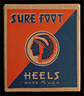 Sure Foot shoe heels box, ca. 1950