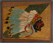 World War I Lafayette Escadrille Indian-head insignia, 1917