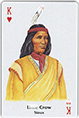 Little Crow (Sioux) playing card, 1995