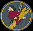 18th Bombardment Squadron flight jacket patch, 1940s
