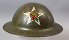 World War I Marine Corps helmet with Indian-head-and-star insignia, 1918