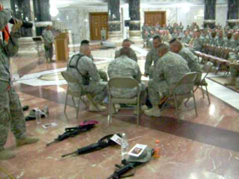 Soldiers Navajo Pow Wow in Iraq
