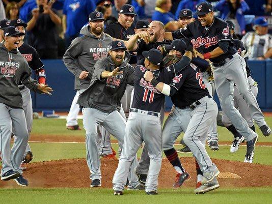 Cleveland Indians celebrating