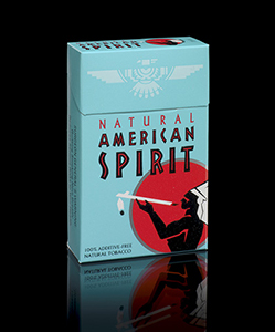 American Spirit cigarette package, 2016