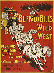 """Attaque de la Diligence"" poster for Buffalo Bill's Wild West show, 1905"