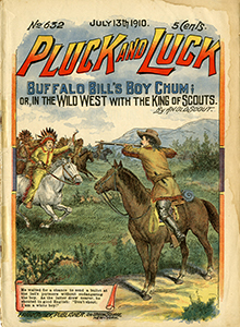 Pluck and Luck dime novel, 1910