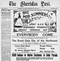 Front page of the Sheridan Post, June 26, 1902